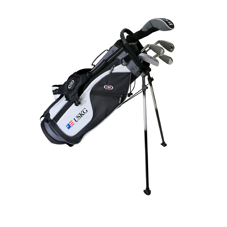 Набор клюшек US Kids детский UL57-u 5 Club Stand Set All Graphite, Black/White/Grey Bag 24561