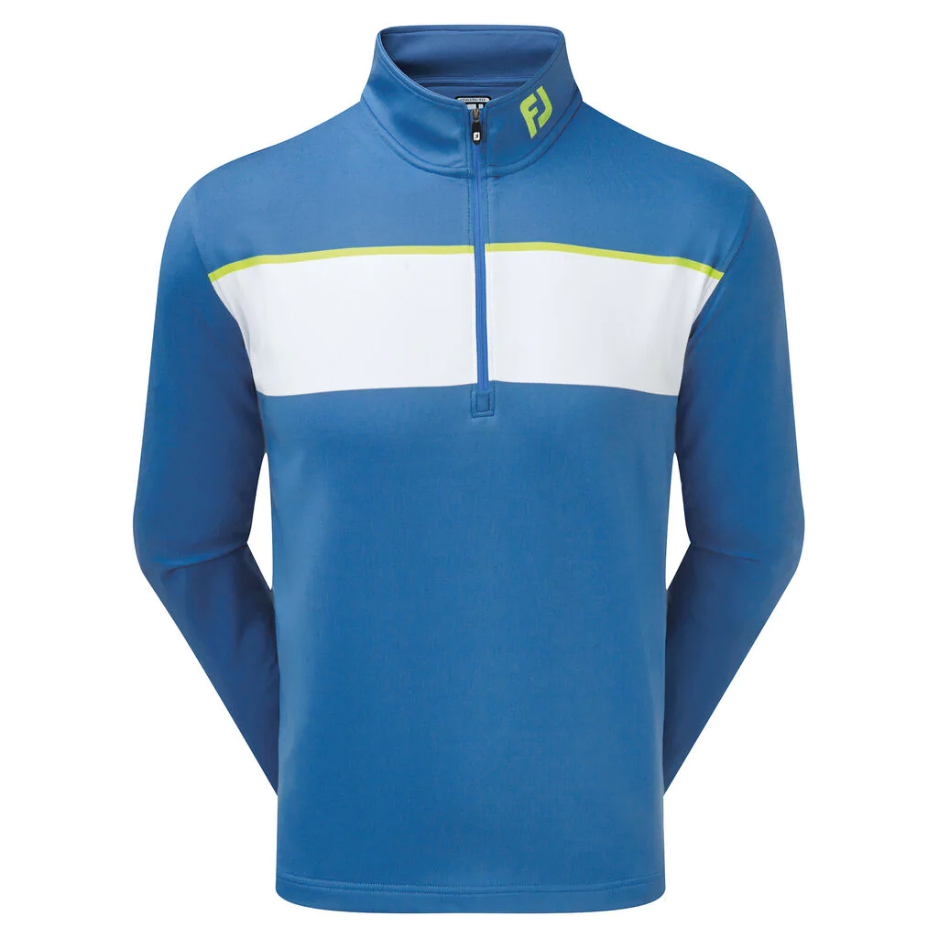 Пуловер FJ Jersey Chest Stripe Chill-Out Pullover Blue Marlin with White & Citrus Athletic 90163_L