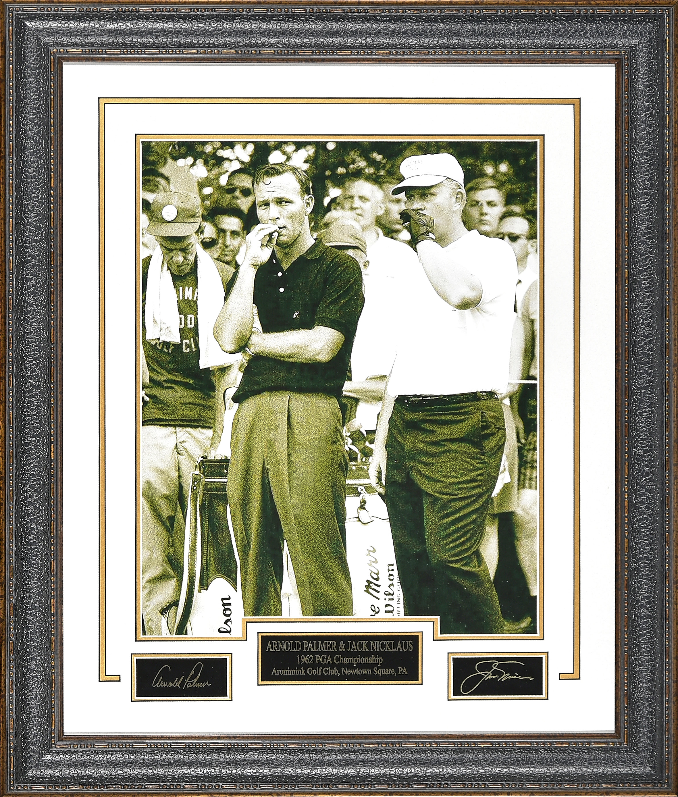 Фото в раме Jack Nicklaus and Arnold Palmer Smoking