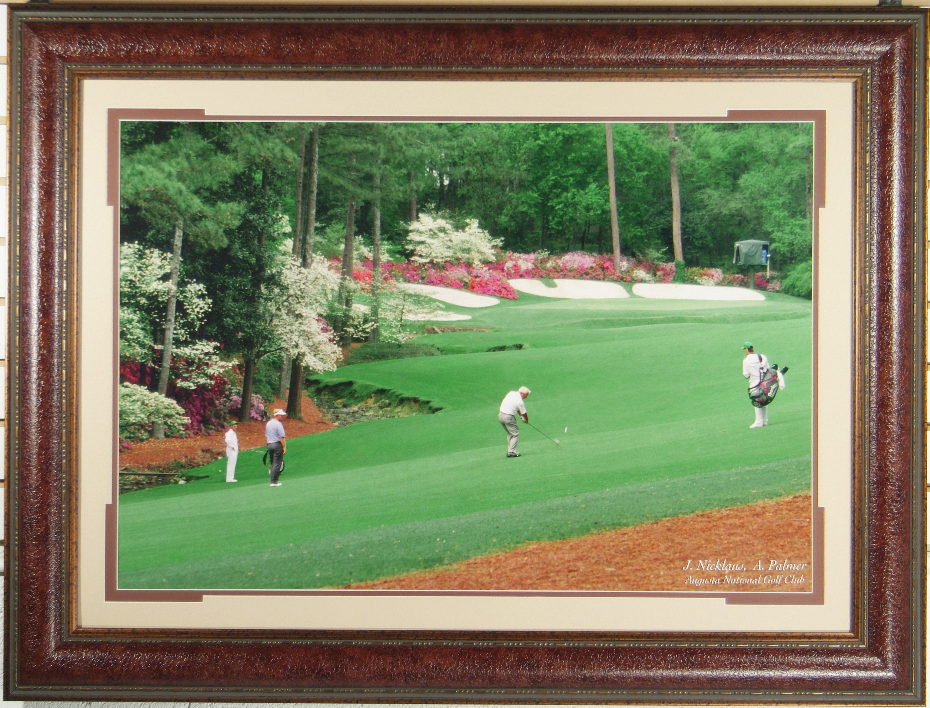 Фото в раме Jack Nicklaus and Arnold Palmer Augusta National Golf Club
